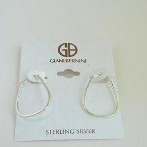 Take 50% off Sterling Silver Hoop NWT (E91)